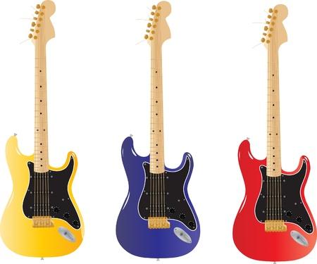 fender stratocaster: Vector guitar