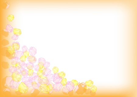 Vector background with roses Vector