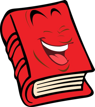 red book with the face Stock Vector - 9624047