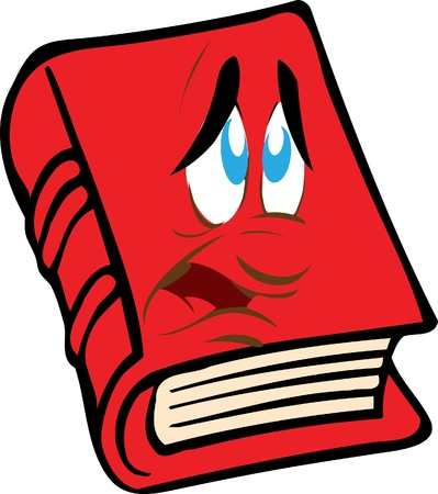 red book with the face Vector