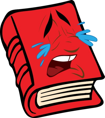 red book with the face Illustration