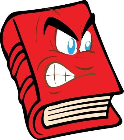libro rojo con la cara