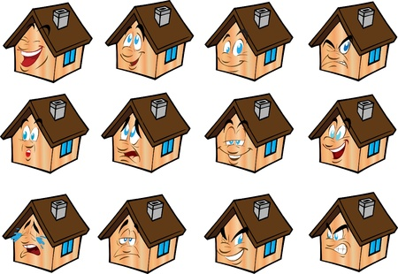 Set vector illustrations little house  Vector