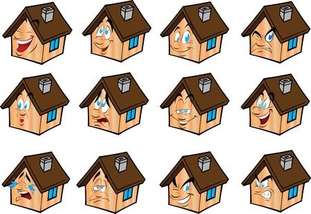 Set vector illustrations little house Stock Vector - 9624064