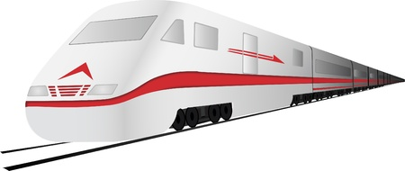 Fast, high speed vector train Stock Vector - 9624488