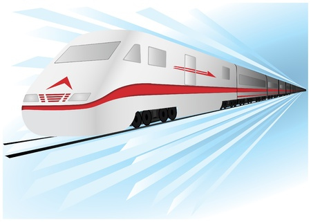 Fast, high speed vector train Stock Vector - 9624489