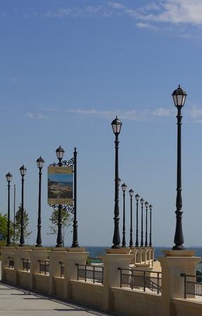 Quay with columns