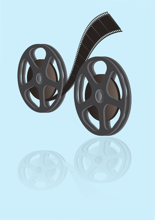 cinematographer: Vector two reels with a film Illustration