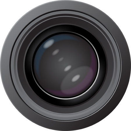 Vector of the digital camera with the big lens Illustration