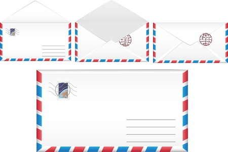 Vector illustration post envelope