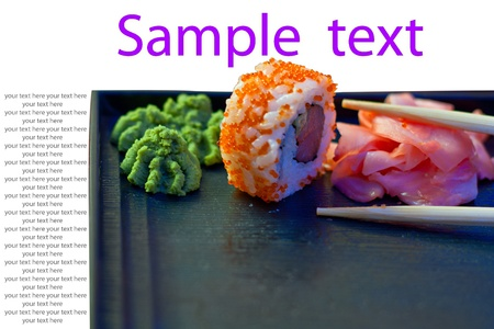 advertizing leaflet from a wasabi  sushi and sticks
