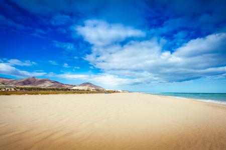 fuerteventura lighthouse island beach landscape Stock Photo