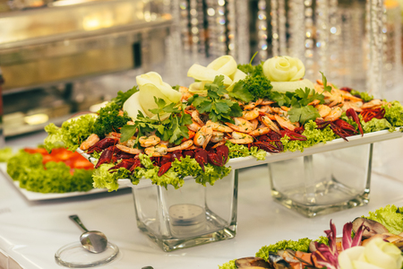 catering wedding bride table party Stock Photo