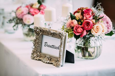 flowers wedding bride groom decoration