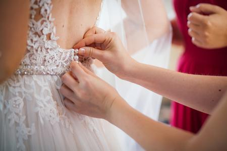 getting: getting ready bride groom dress