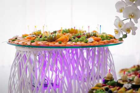 catering wedding food buffet table Reklamní fotografie