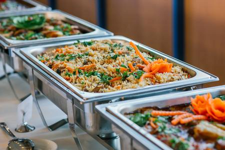 El evento de catering comida de la boda buffet