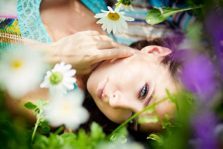 summer beauty: beauty woman in Garden summer