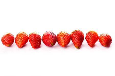 isolated strawberrys on white background