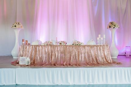 wedding flowers dekor bride groom Stock Photo