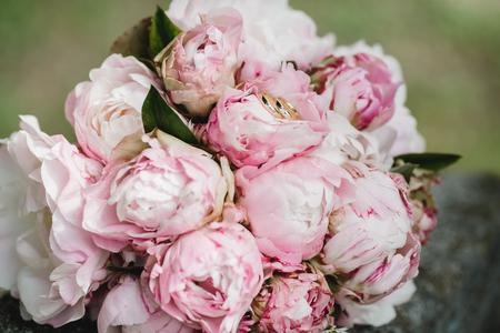 wedding flowers closeup photo