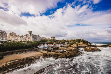 biarritz france landscape beach ocean