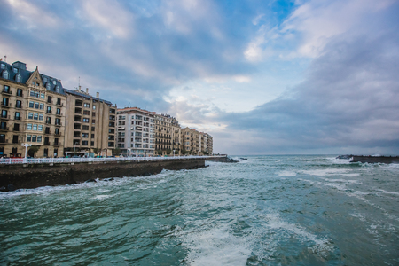 san sebastian donostia spain city wave ocean