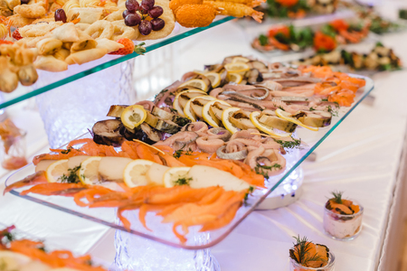 catering restaurant wedding buffet for events Stock Photo