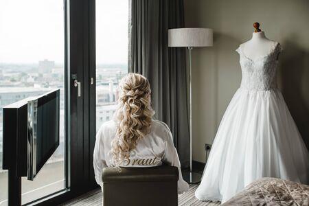 getting ready groom bride wedding