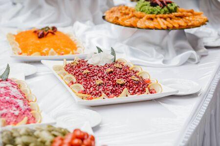 catering buffet di nozze per eventi Archivio Fotografico