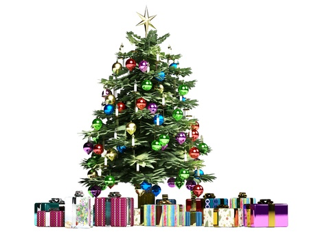 christmass: Christmass tree with several gifts