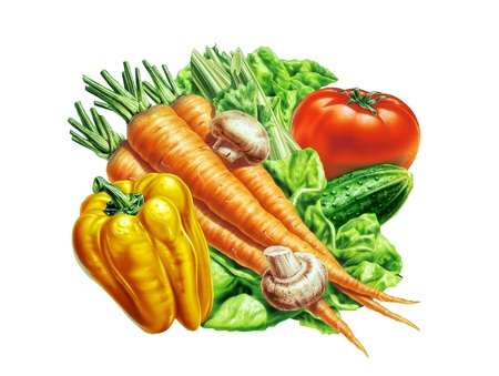 group of fresh vegetables photo