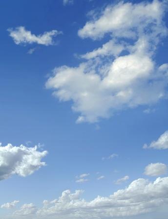 cumulus cloud: Blue sky with some cumulus white clouds.