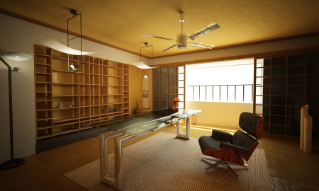 Office interior. Modern oriental stylish. Stock Photo - 19893737