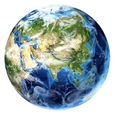 Planet Erde mit einigen Wolken Asien Ansicht Standard-Bild - 19919047