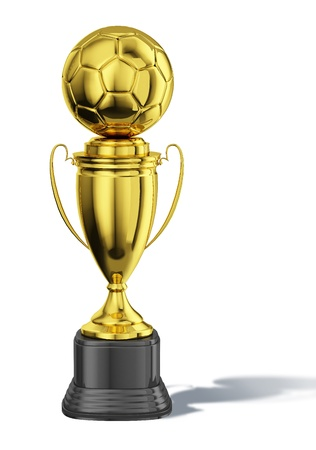 basement: Trophy cup, with a soccer ball at the top  All in gold, with black basement