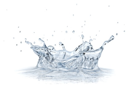 Splash water isolated on white background  Stock Photo - 20083210