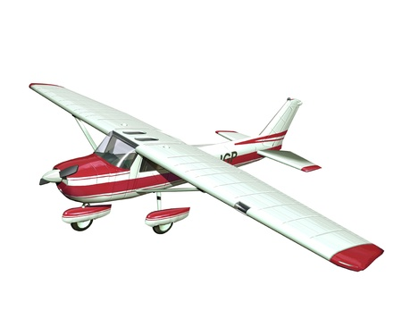 off cuts: small airplane on white background Stock Photo