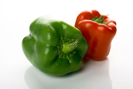 red and green pepper Banco de Imagens