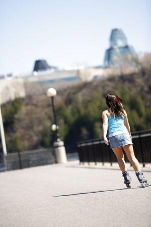 rollerblade: women in rollerblade