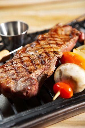 meat in barbecue Banco de Imagens