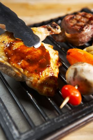 sumptious: meat Stock Photo
