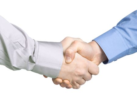 Handshake with a background