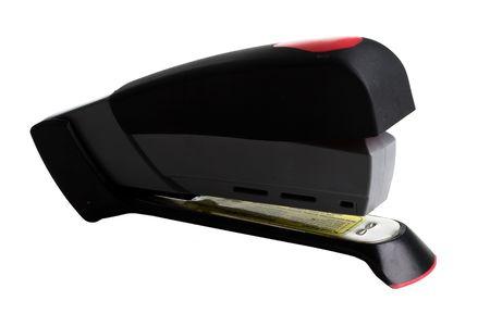 office stapler: Black Stapler on a white background