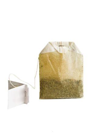 tea bag on a white background