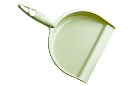 Groene stof pan op een witte achtergrond
