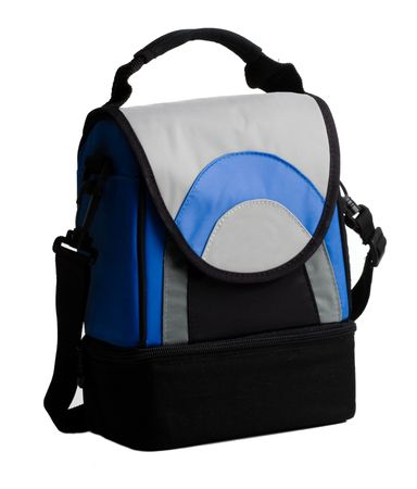 Lunch pack carrier with handle on a white background photo