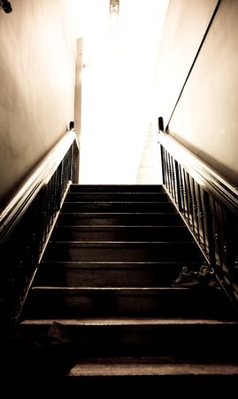 Stairs leading up to a studio