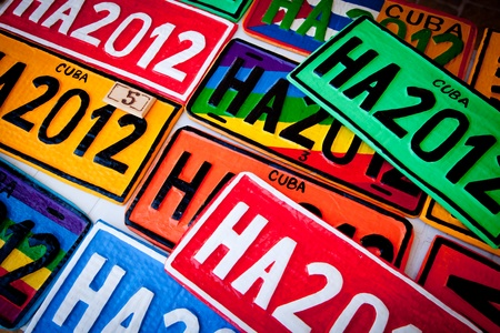 Colorful Automobile Plates