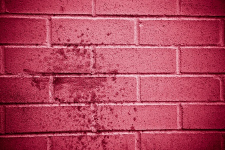Red Brick wall texture with abstract paint